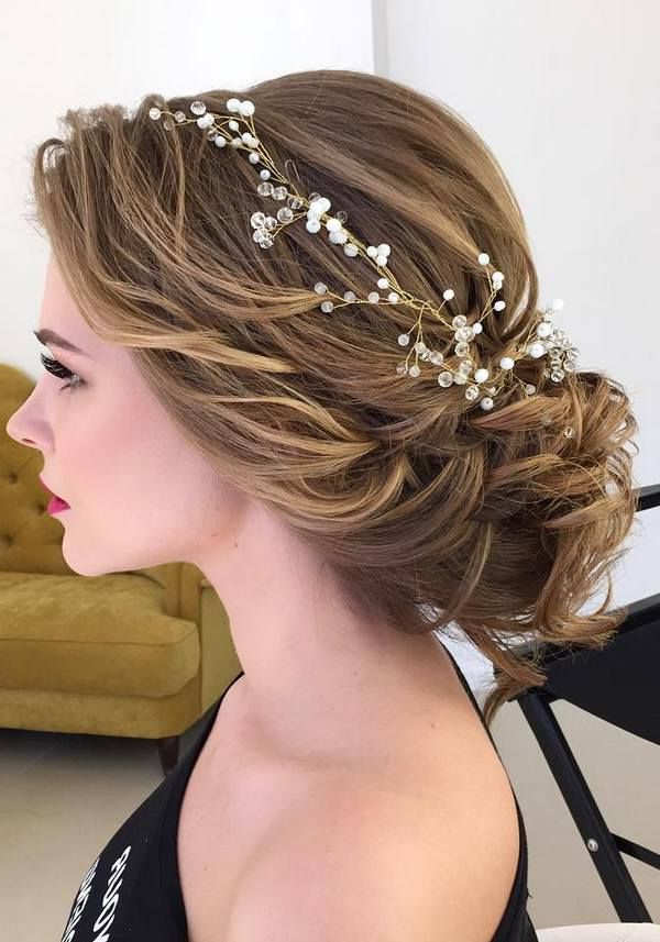 75 Chic Wedding Hair Updos For Elegant Brides | Wedding Hairstyles With Pulled Back Half Updo Bridal Hairstyles With Comb (Gallery 10 of 25)