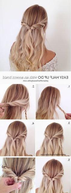 760 Best Diy: Hair Images In 2019 | Hair Ideas, Hair Makeup intended for Simplified Waterfall Braid Wedding Hairstyles