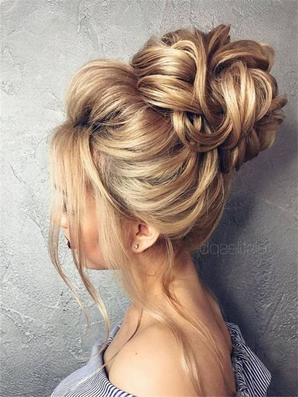 78 Glamorous Updos For Long Hair To Rock In Casual Days Or Party In Elegant Bridal Hairdos For Ombre Hair (Gallery 12 of 25)
