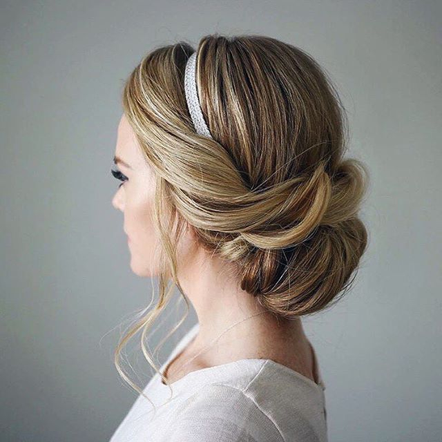 8 Drop Dead Updo Hairstyles For The Next Wedding You Attend! Throughout Neat Bridal Hairdos With Headband (Gallery 3 of 25)