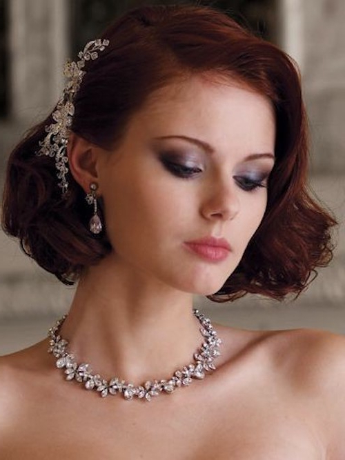 8 Gorgeous Wedding Hairstyles For Brides With Short Hair – Luulla's Blog Inside Short Wedding Hairstyles With Vintage Curls (Gallery 9 of 25)