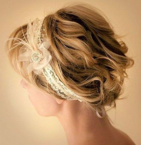 8 Swanky Wedding Updos For Short Hair | For Tina | Pinterest | Updos Pertaining To Short Wedding Hairstyles With A Swanky Headband (Gallery 11 of 25)