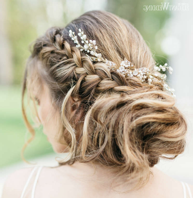 80 Gorgeous Wedding Hairstyles | Elegantwedding.ca With Braided Lavender Bridal Hairstyles (Gallery 22 of 25)