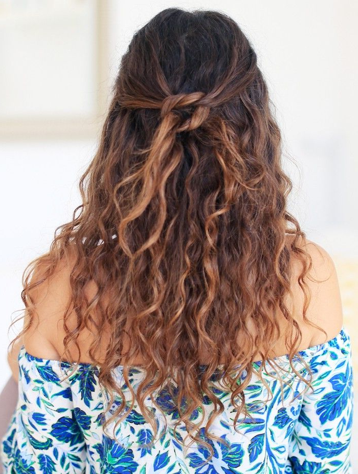 9 Easy Hairstyles For Curly Hair | Byrdie Uk Intended For Lifted Curls Updo Hairstyles For Weddings (View 13 of 25)