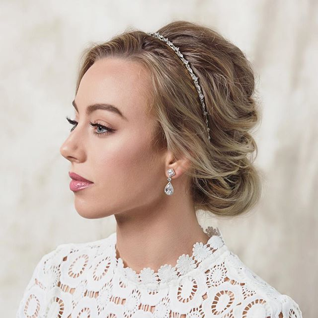 Adorn Your Soft Wedding Updo With A Delicate Headband And Sparkly Intended For Soft Wedding Updos With Headband (Gallery 1 of 25)
