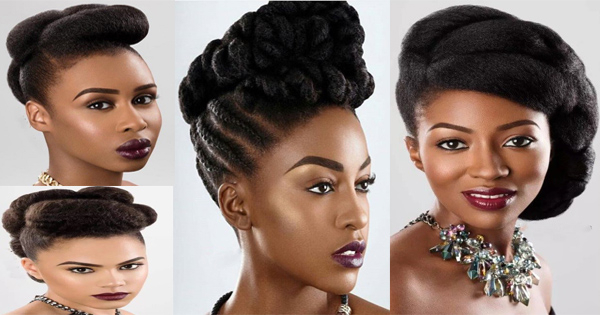 Afro Hair: 4 Ideas For Natural Wedding Hairstyles For Women Regarding Pompadour Bun Hairstyles For Wedding (Gallery 25 of 25)