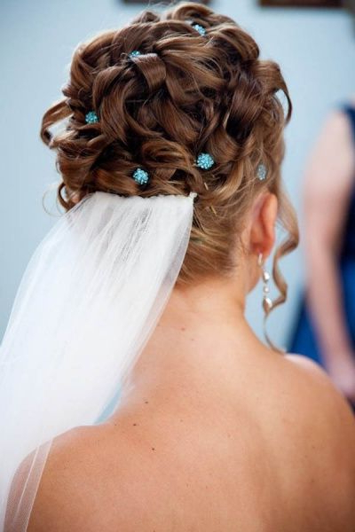 All Up Bridal Hairstyle, Updo With Tendrils Downface, High Updo For Curled Bridal Hairstyles With Tendrils (Gallery 20 of 25)