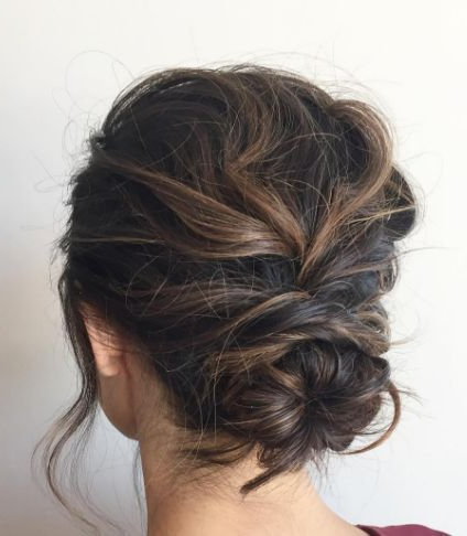 Featured Photo of Low Messy Chignon Bridal Hairstyles For Short Hair