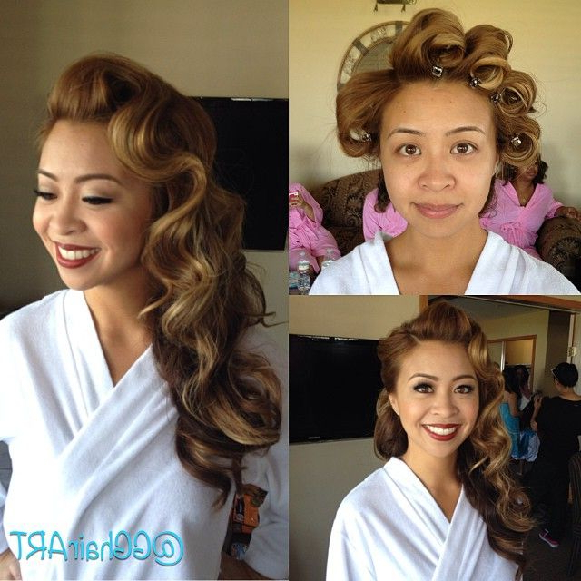 Asian Women Short Hairstyle | Finger Wave Shot Hair | Pinterest Pertaining To Large Hair Rollers Bridal Hairstyles (Gallery 11 of 25)