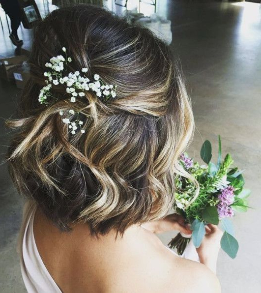 Baby's Breath | Wedding Hairstyles | Wedding Hairstyles, Short Throughout Short And Sweet Hairstyles For Wedding (View 7 of 25)