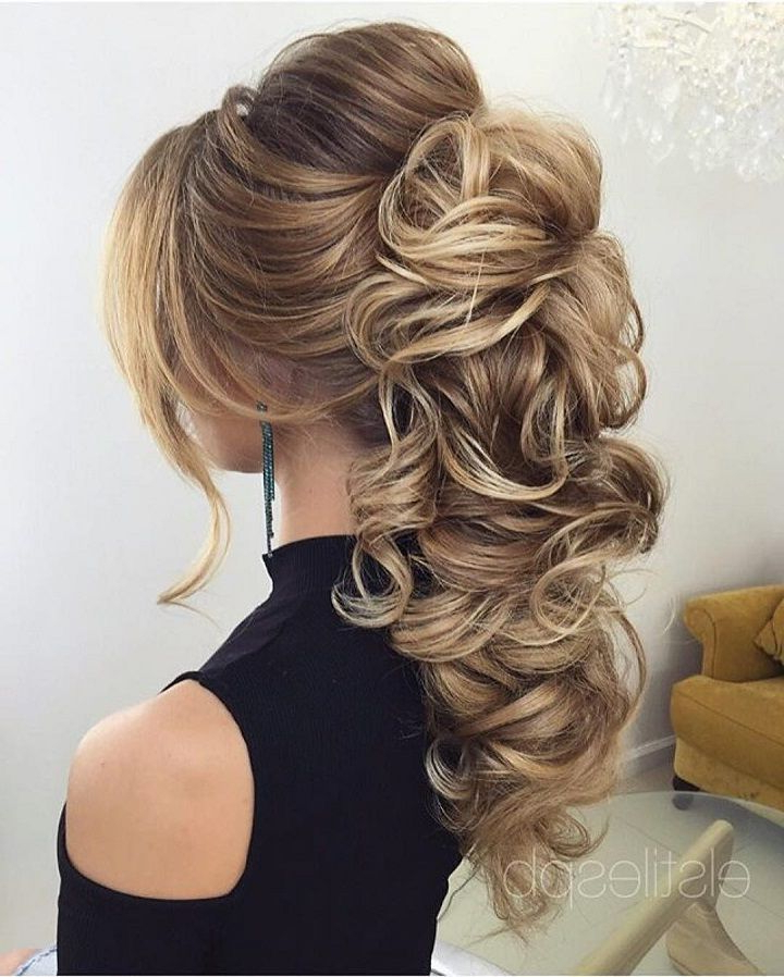 Beautiful Bridal Hairstyle For Long Hair To Inspire You | Hair In Wavy And Wispy Blonde Updo Wedding Hairstyles (View 8 of 25)