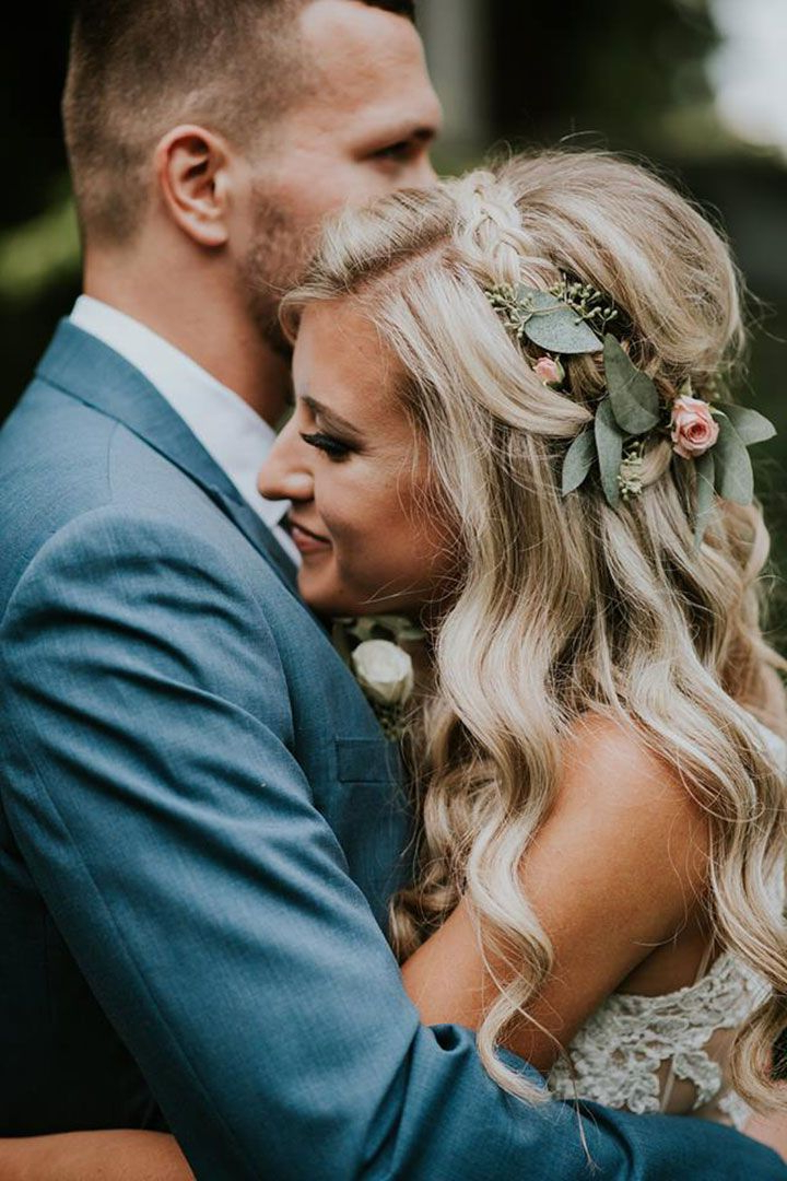 Beautiful Hair & Makeup Inspiration For Bridesposh Styling With Regard To Bohemian Curls Bridal Hairstyles With Floral Clip (View 14 of 25)