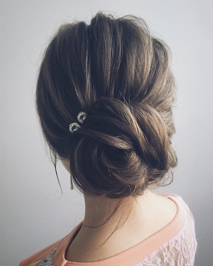 Beautiful & Unique Updo Wedding Hairstyle Ideas | Hair | Pinterest With Regard To Messy Buns Updo Bridal Hairstyles (View 21 of 25)
