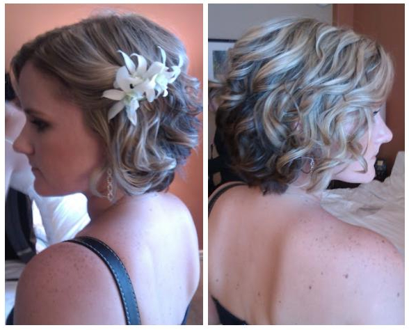 Before And After: Bridal Hair And Makeup! | Isle Media Intended For Curls Clipped To The Side Bridal Hairstyles (View 23 of 25)