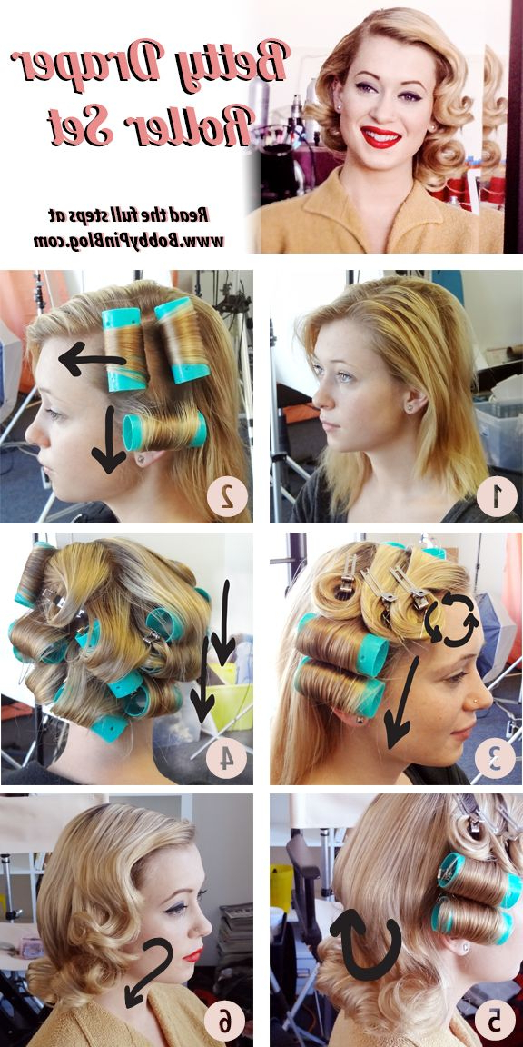Betty Draper Vintage Hairstyle Directions | Hair Inspiration In Large Hair Rollers Bridal Hairstyles (View 4 of 25)