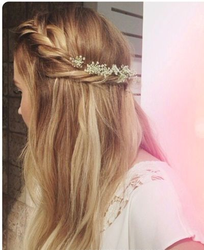 Blonde Braided Half Updo – Prom, Wedding, Formal – Careforhair.co (View 21 of 25)