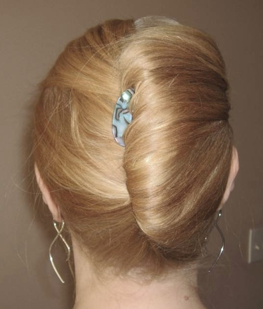 Blonde French Twist Hairdo – Prom, Wedding, Party, Formal, Evening Pertaining To White Blonde Twisted Hairdos For Wedding (View 12 of 25)