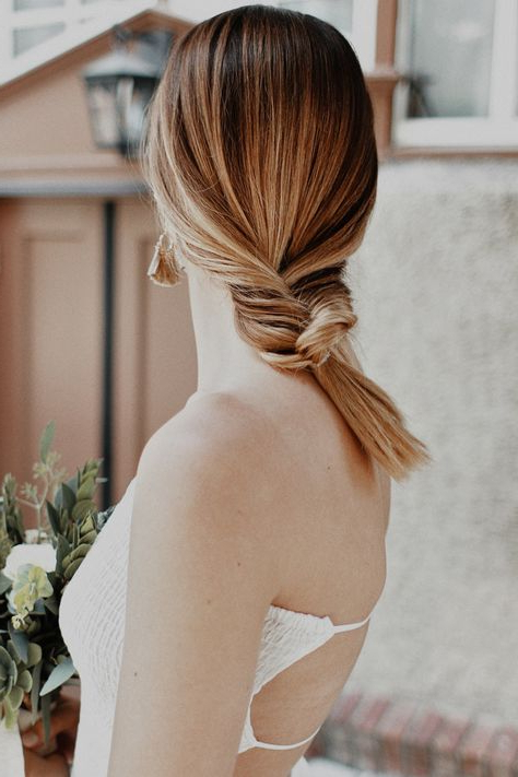 Bohemian Bridals | Backless Dress | Simple Wedding Dress | Black And With Bohemian And Free Spirited Bridal Hairstyles (View 23 of 25)
