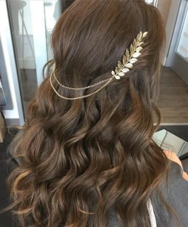 Bohemian Hair Chain | Awesome Wedding Hairstyles | Hair, Hair Styles In Bohemian And Free Spirited Bridal Hairstyles (View 13 of 25)