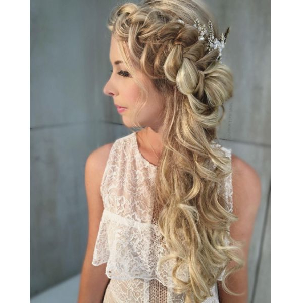 Boho Braid In 2018 | Hair Styles | Pinterest | Braids, Hair Styles Pertaining To Bohemian And Free Spirited Bridal Hairstyles (View 10 of 25)