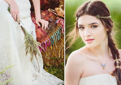 Boho Bride, Bohemian Bride, Free Spirited Bride Photography Throughout Bohemian And Free Spirited Bridal Hairstyles (View 8 of 25)