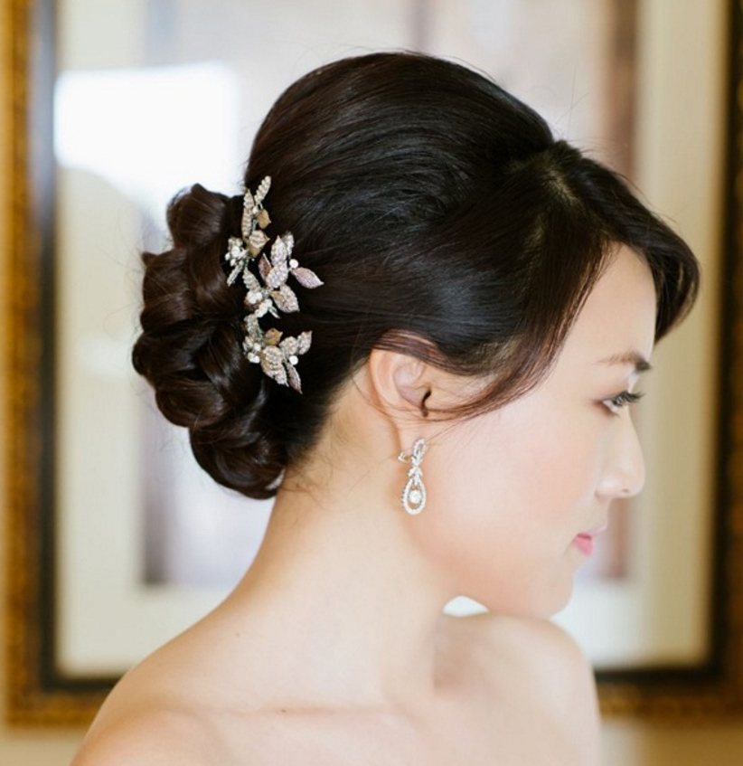 Braided Hairstyles: 5 Ideas For Your Wedding Look – Inside Weddings For Bridal Chignon Hairstyles With Headband And Veil (View 21 of 25)