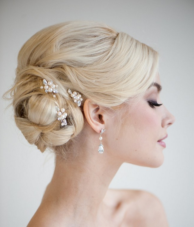 Bridal Hair} 25 Wedding Upstyles And Updos Within Neat Bridal Hairdos With Headband (View 14 of 25)