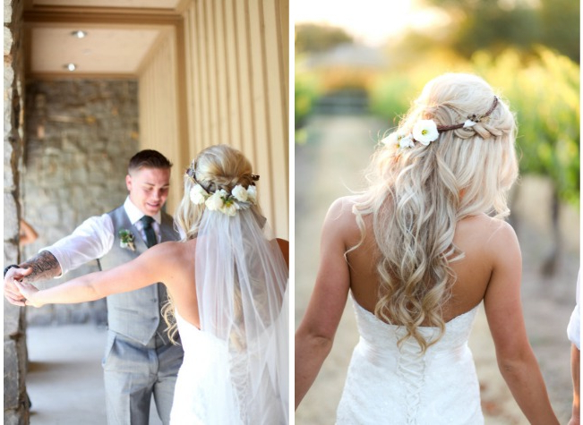 Bridal Hair Inspo – Bride Guide Within Blonde Half Up Bridal Hairstyles With Veil (View 13 of 25)