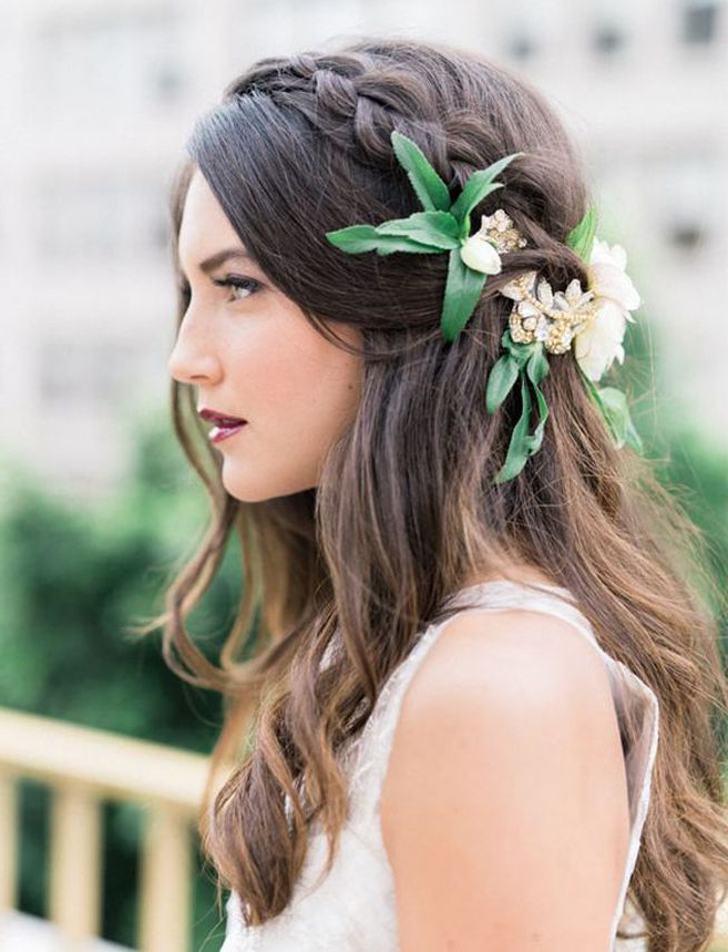 Bridal Hair Trends For 2016   Bridal Hair & Make Up   Pinterest With Double Braid Bridal Hairstyles With Fresh Flowers (View 20 of 25)