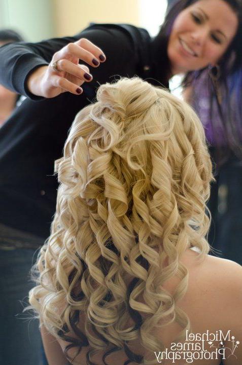 Bridal Hairspiral Curls Half Up/half Down..hairwww (View 2 of 25)