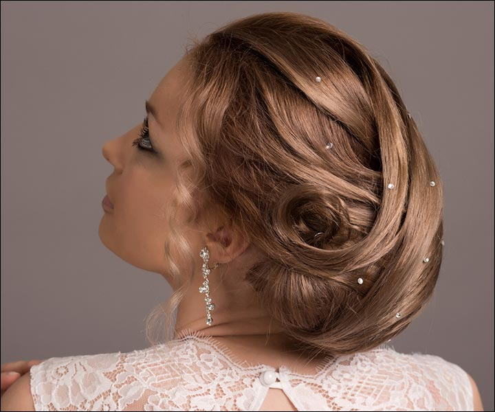 Bridal Hairstyles: 38 Gorgeous Looks For This Wedding Season With Bridal Mid Bun Hairstyles With A Bouffant (View 20 of 25)