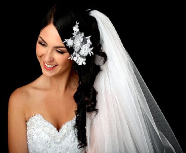 Bridal Hairstyles Archives – She'said' Pertaining To Side Curls Bridal Hairstyles With Tiara And Lace Veil (View 20 of 25)