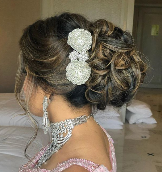 Bridal Hairstyles Ideas For Reception – 2019 Trends | Popxo For Bedazzled Chic Hairstyles For Wedding (View 7 of 25)
