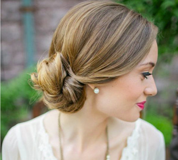 Bridesmaid Hairstyles Low Bun | The Holle With Wedding Low Bun Bridal Hairstyles (View 12 of 25)