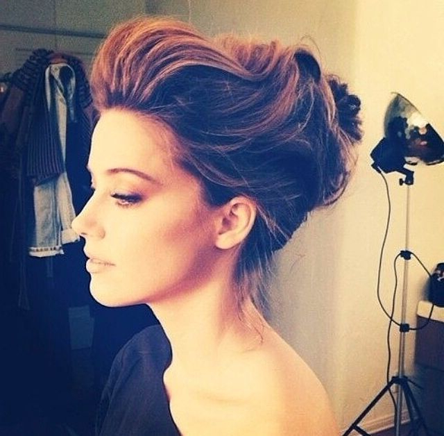 Brushed Back Up Do   { Tangled }   Pinterest   Hair, Hair Styles And In Brushed Back Beauty Hairstyles For Wedding (View 13 of 25)
