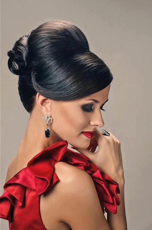 Bumped Hairdo – Beauty Hoster With Bumped Hairdo Bridal Hairstyles For Medium Hair (View 15 of 25)