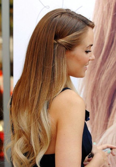 Can't Decide Between Full Length, Half Up-Half Down Or All Tied Up regarding Tied Back Ombre Curls Bridal Hairstyles