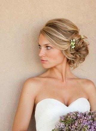 Charming Hairstyles For Medium Hair | Wedding 2016 | Wedding Regarding Elegant Bridal Hairdos For Ombre Hair (View 9 of 25)