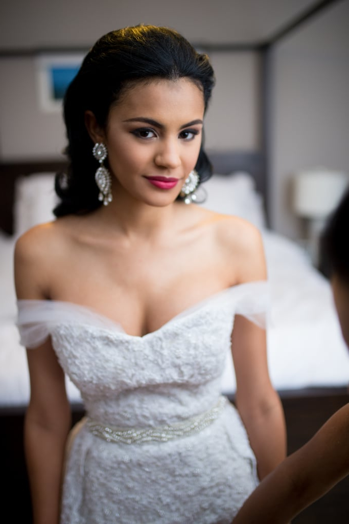 Chic And Pulled Back | Bridal Hairstyle Inspiration For Black Women With Regard To Sophisticated Pulled Back Cascade Bridal Hairstyles (View 23 of 25)