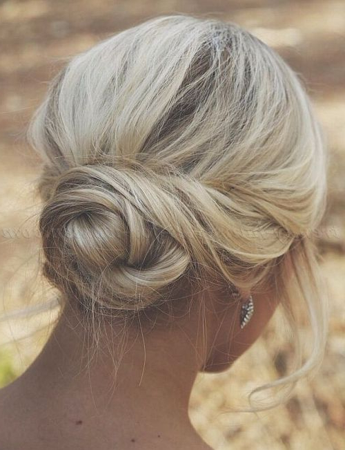 Chignon Hairstyles, Low Bun Hairstyles – Twisted Low Bun Hairstyle Pertaining To Twisted Low Bun Hairstyles For Wedding (View 8 of 25)