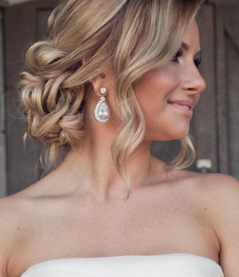 Choosing Your Wedding Hairstyle… | Blonde's Big Day | Wedding Regarding Curled Side Updo Hairstyles With Hair Jewelry (View 3 of 25)