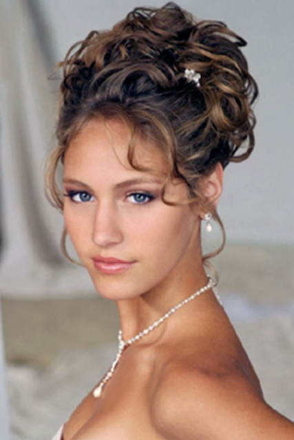 Classic+Curly+Updos | Classic Curly Wedding Updo With Curly Side Intended For Formal Curly Updos With Bangs For Wedding (View 5 of 25)