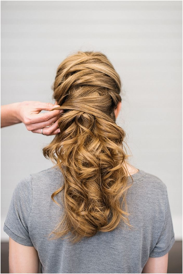 Crisscross Wedding Hair So Cool You'll Want To Copy | Hair Regarding Crisscrossed Half Up Wedding Hairstyles (View 8 of 25)