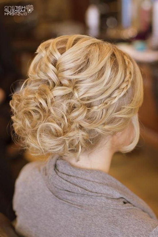 Curl Hair And Add Small Braids At The Sides (View 15 of 25)