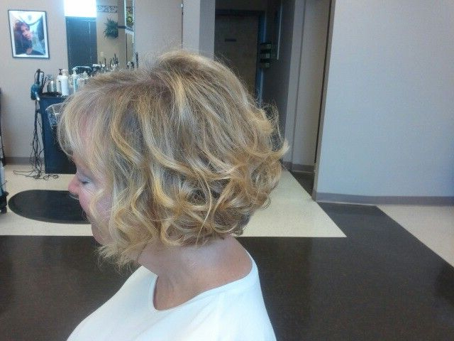 Curled Bob Mother Of The Bride Short Hair Wedding Style | Mindy's Inside Creative And Curly Updos For Mother Of The Bride (View 10 of 25)