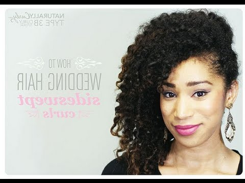 Curly Wedding Hairstyle Tutorial | Naturallycurly – Youtube With Regard To Naturally Curly Wedding Hairstyles (View 24 of 25)