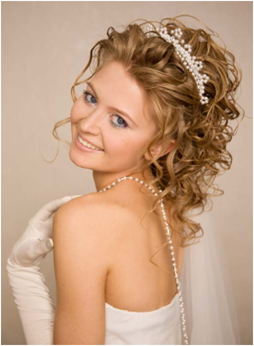Curly Wedding Hairstyles For Long Hair Best Of Wedding Hairstyles Pertaining To Long Curly Bridal Hairstyles With A Tiara (View 24 of 25)