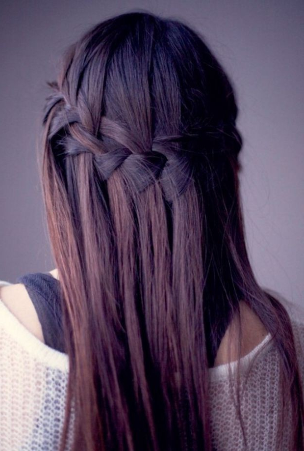 Cute Hairstyles For Long Straight Hair – Popular Haircuts With Regard To Double Braided Look Wedding Hairstyles For Straightened Hair (View 21 of 25)