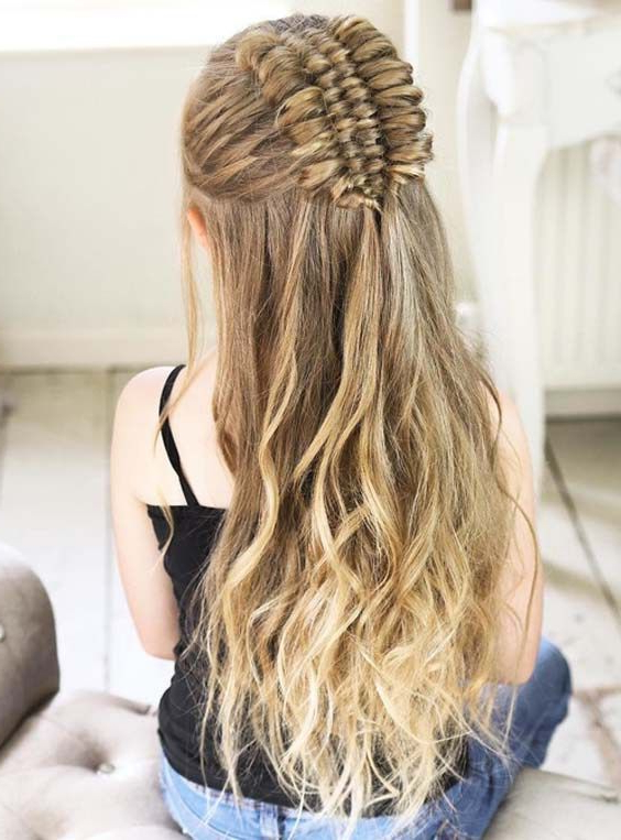 Cutest Half Up Four Strand Infinity Braids You Must Wear In 2018 Pertaining To Infinity Wedding Updos (View 8 of 25)
