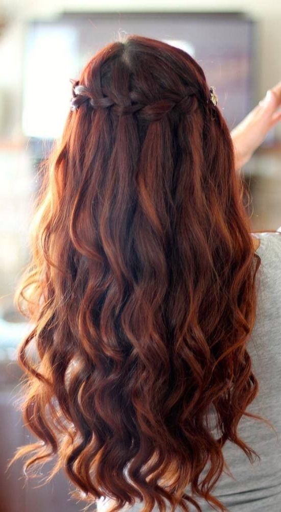 Dark Brown Hair Styles With Highlights And Lowlights in Half Up Curly Hairstyles With Highlights